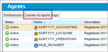 Update all agents in your Automate Schedule network