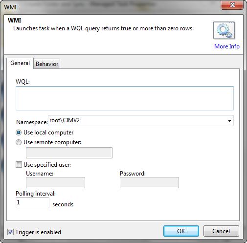 WMI Trigger Window