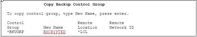 Copy Backup Control Group