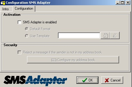 Configuration SMS Adapter