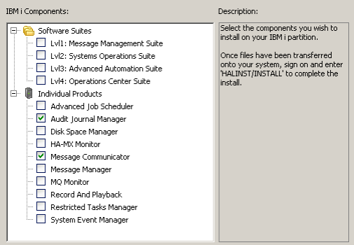 Audit Journal Manager Installation Components