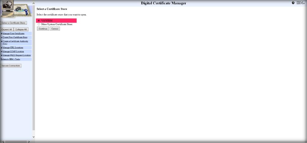Digital Certificate Manager