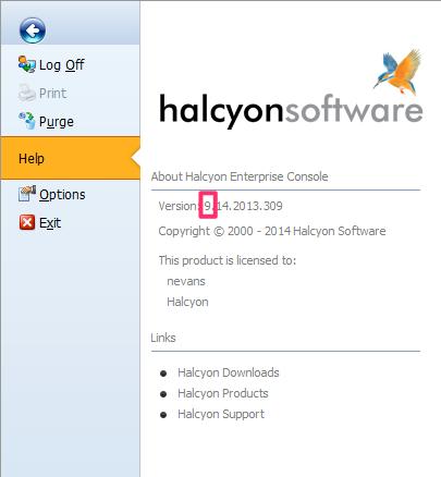 Enterprise Console Version Number
