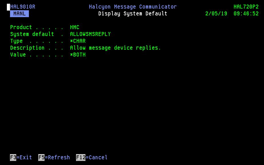Display System Default