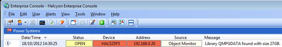 QMPGDATA Alert In Enterprise Console