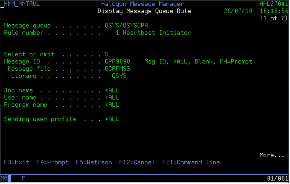 Message ID CPF9898