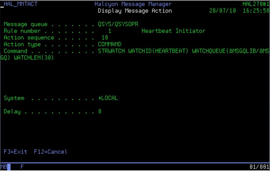 STRWATCH Command