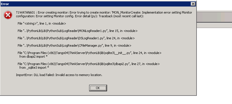 ImportError: DLL load failed: Invalid access to memory location
