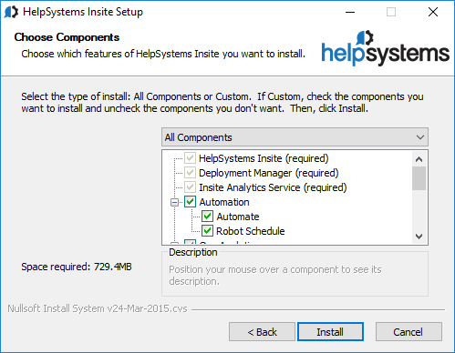 Installing HelpSystems Insite 2 x and 1 x on Your Windows
